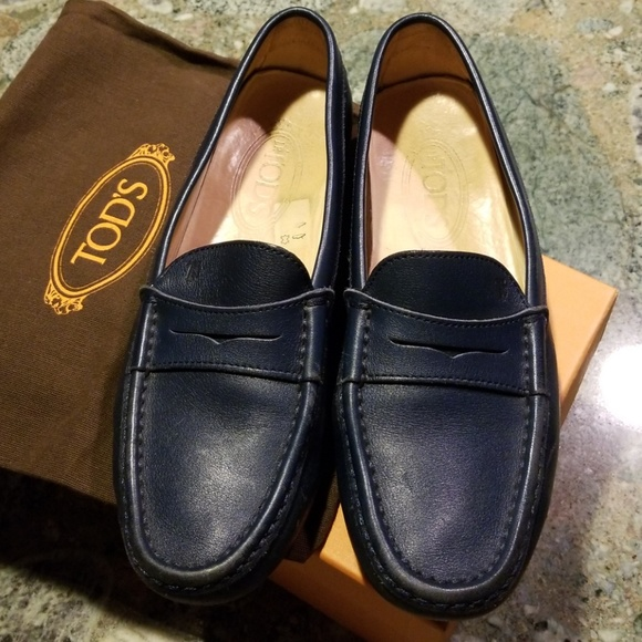 Tod's Schuhes   Authentic Loafers Tods Blau Pellame Soft Loafers Authentic   Poshmark fe5d4c